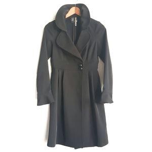 Mango Penelope Cruz Black Trench Rain Coat